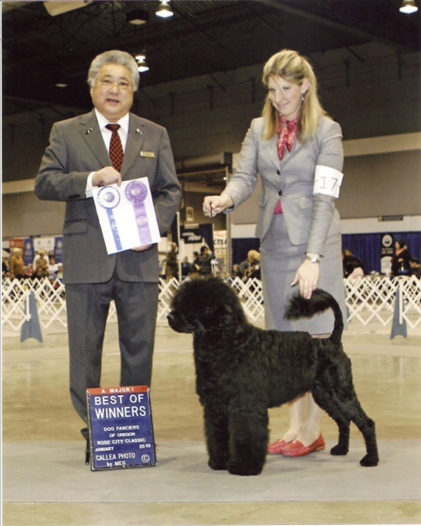 Bullet at 7 mo going Best Of Winners for a 5 pt major at the Rose City Classic - Jan. 2010